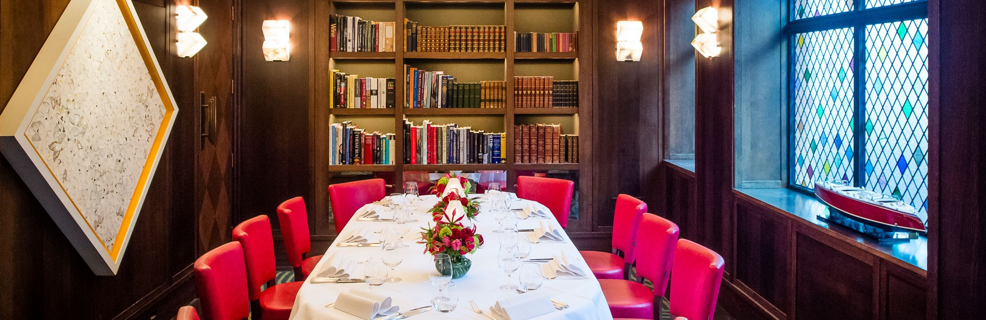 the library at the club at the ivy by paul winch furness