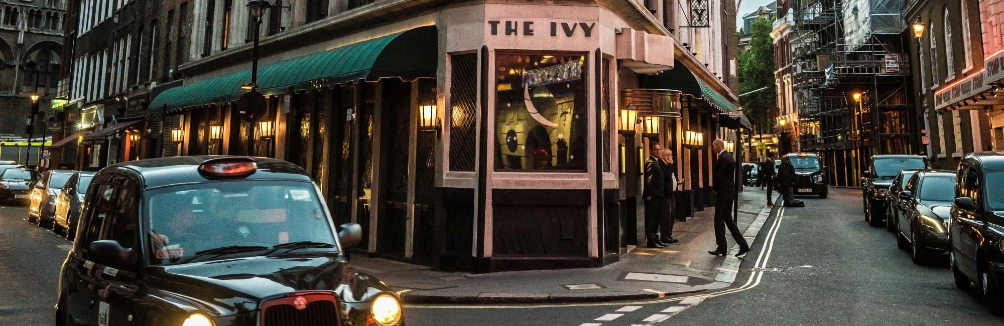 The exterior of The Ivy West Street, near Leicester Square in London